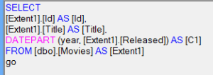 LINQ-generated SQL.